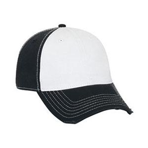 Six panel cotton twill distressed cap (104-764)