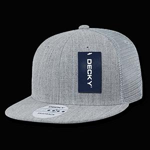 Flat peak trucker cap (1052)