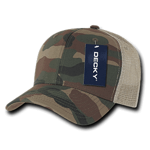 Camo curved peak trucker (1054)