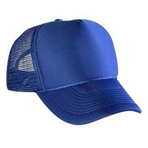 Five panel poly foam mesh back cap (32-467)
