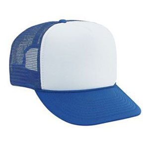 Five panel poly foam golf mesh back cap (39-169)