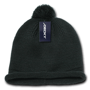 Solid roll up beanie (611A)