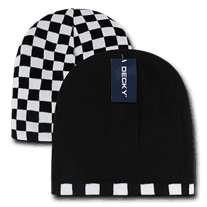 Checkered reversible beanie (8024)