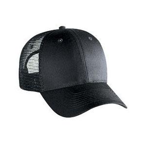 Six panel cotton twill mesh back cap (83-473)