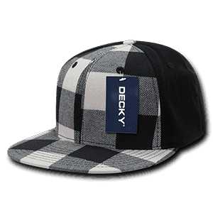 Flat peak plaid flex cap (903)